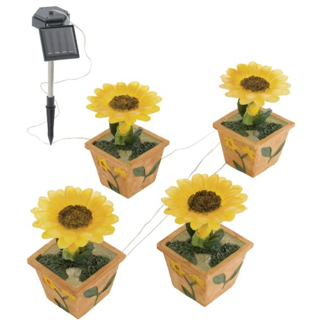 EGLO 47125 - Napraforgó kerti szolár lámpa 4xLED/0,015W
