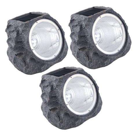 Eglo 48505 - Készlet 3x napelemes LED lámpa 4xLED/0,06W