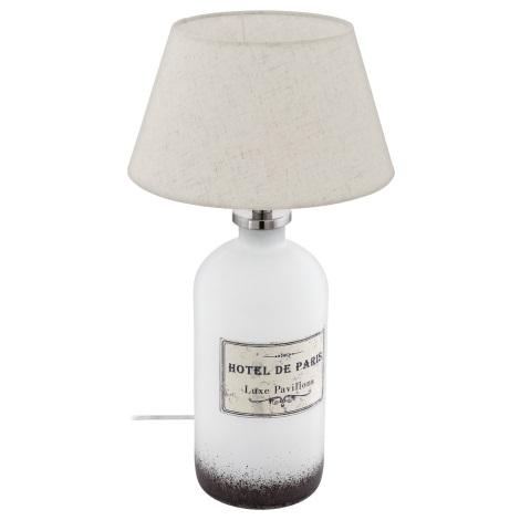 Eglo 49663 - Asztali lámpa ROSEDDAL 1xE27/60W/230V