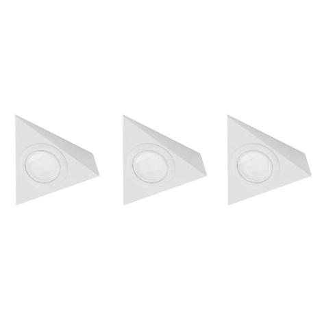 EGLO 52562 - TRIANA beépíthető lámpa 3 db-os szett 3xG4/20W