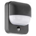 Eglo 78596 - Kültéri fali lámpa érzékelővel TRABADA 1xE27/40W/230V IP44