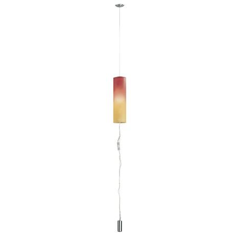 EGLO 83787 - MOBILE 1 csillár 1xE27/100W nikkel/piros/narancs