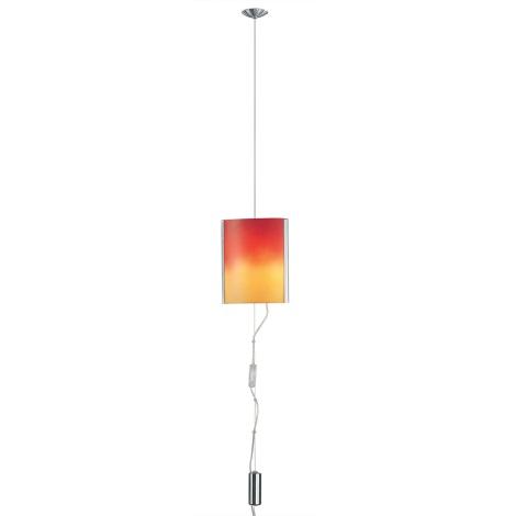 EGLO 83789 - MOBILE csillár 2xE14/60W nikkel/piros/narancs