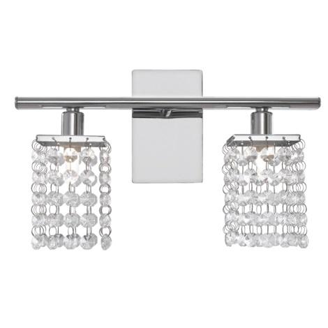 Eglo 85332 - Mennyezeti kristály lámpa PYTON 2xG9/33W/230V