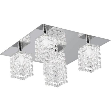 Eglo 85336 - Mennyezeti kristály lámpa PYTON 5xG9/33W/230V