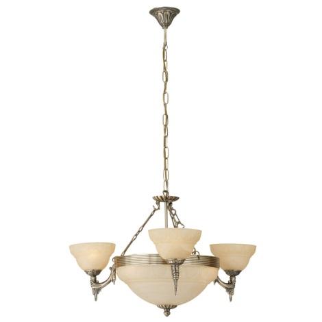 EGLO 85857 - MARBELLA függeszték 6xE14/60W bronz