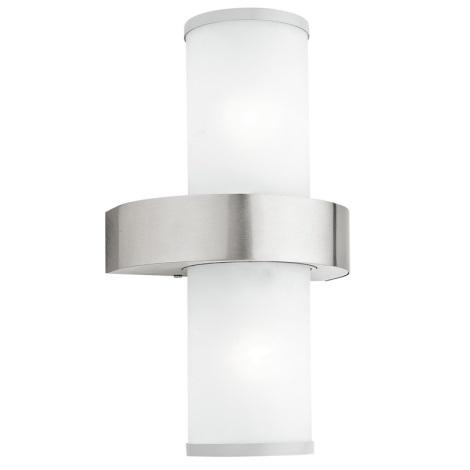EGLO 86541 - BEVERLY kültéri fali lámpa 2xE27/60W ezüst/fehér