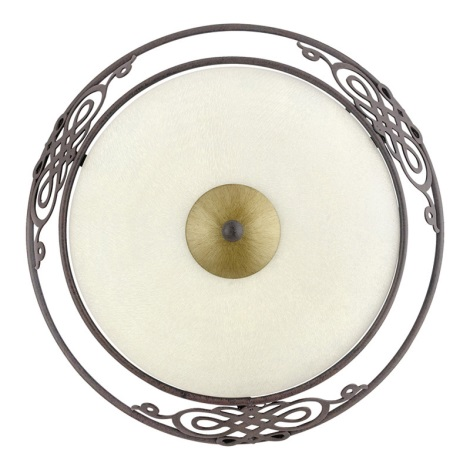 EGLO 86711 - MESTRE fali/mennyezeti lámpa 1xE27/60W antik barna /arany