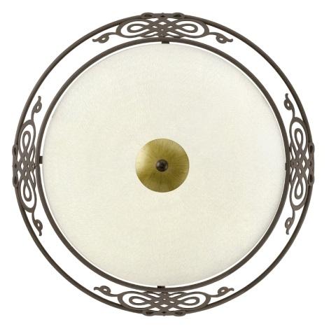 EGLO 86712 - MESTRE fali/mennyezeti lámpa 2xE27/60W antik barna/arany/bézs üveg