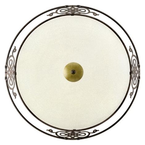 EGLO 86713 - MESTRE fali/mennyezeti lámpa 3xE27/60W antik barna/arany