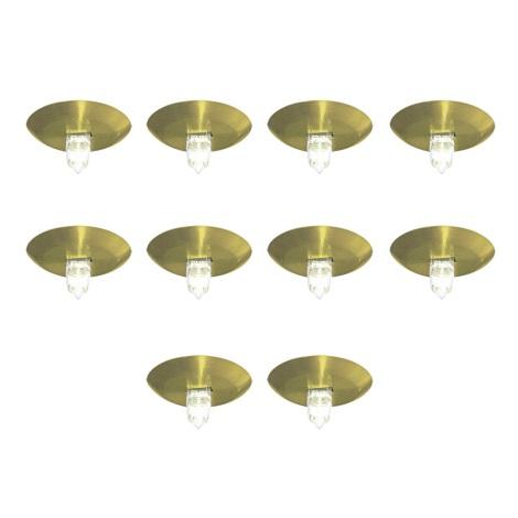 EGLO 87044 - DENIS beépíthető lámpa 10 db-os szett 10xG4/10W