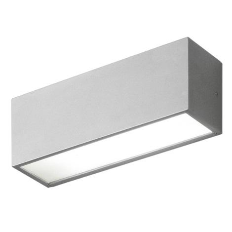 EGLO 87138 - CINEMA kültéri fali lámpa 1xG23/11W ezüst/fehér