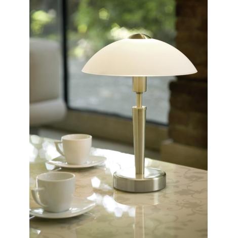 solo asztali lámpa üveg