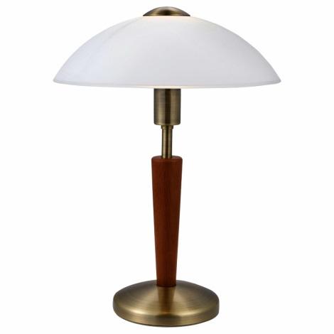EGLO 87256 - SOLO 1 asztali lámpa 1xE14/60W dió