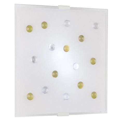 EGLO 87311 - SANTIAGO 1 fali/mennyezeti lámpa 2xE14/40W sárga/fehér