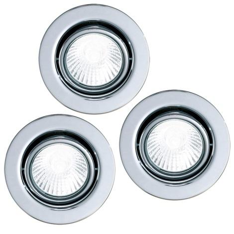 Eglo 87379 - készlet 3x Beépíthető lámpa EINBAUSPOT 3xGU10/50W/230V