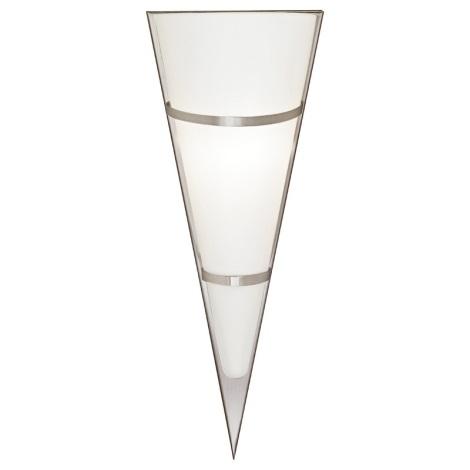 EGLO 87791 - PASCAL 1 fali lámpa 1xE14/60W fehér/rozsdamentes acél