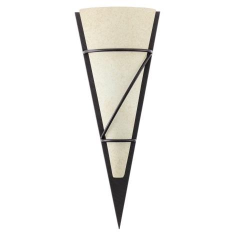 EGLO 87793 - PASCAL 1 fali lámpa 1xE14/60W antik barna/fehér