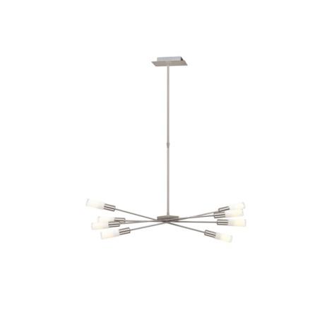 EGLO 87976 - SAMANTA csillár 8xE14/9W matt nikkel/fehér