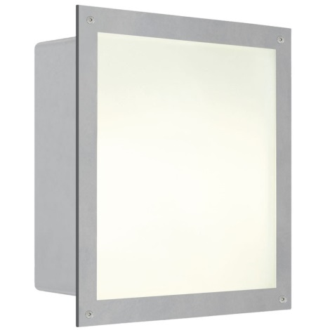 EGLO 88009 - Kültéri fali lámpa ZIMBA 1xE27/100W ezüst/fehér