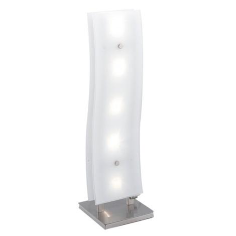 EGLO 88208 - NEWS asztali lámpa 5xG4/20W króm/fehér