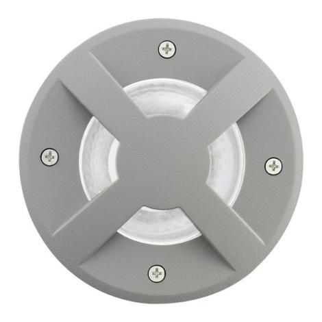 EGLO 88558 - RIGA 3 kültéri taposó lámpa1xGU10/9W ezüst