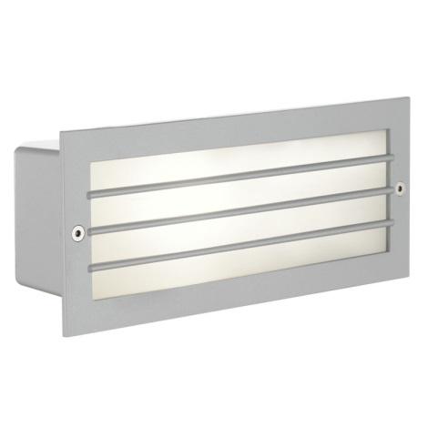 EGLO 88576 - ZIMBA kültéri fali lámpa 1xE27/60W ezüst/fehér