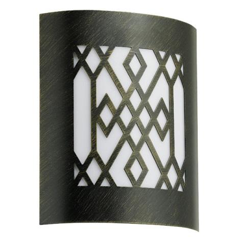 EGLO 88577 - CITY CLASSIC kültéri fali lámpa 1xE27/15W fekete/arany