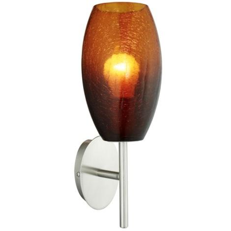 EGLO 88951 - Fali lámpa BATISTA 1xE27/60W/230V barna