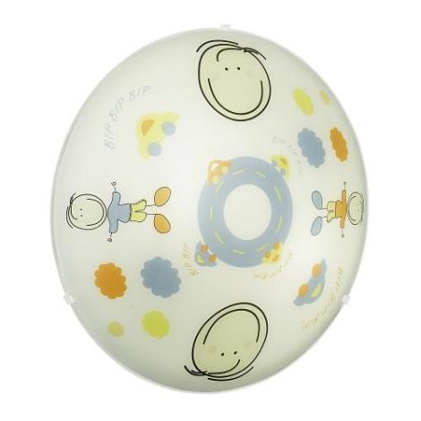EGLO 88972 - JUNIOR 2  gyerek mennyezeti lámpa 2xE27/60W színes