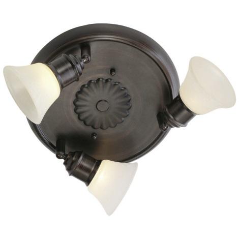 EGLO 89061 - ALAMO spotlámpa 3xG9/40W sötét barna/bézs