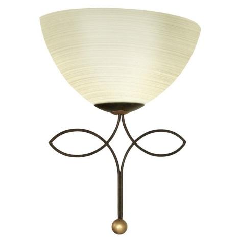 EGLO 89135 - BELUGA fali lámpa 1xE27/60W antik barna