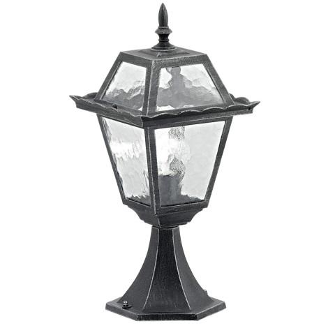 EGLO 89234 - ABANO kültéri lámpa 1xE27/100W fekete/patinás ezüst