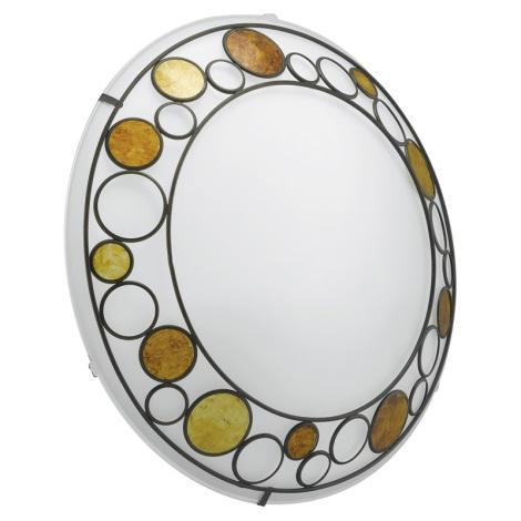 EGLO 89323 - TOLEDA fali/mennyezeti lámpa 2xE27/60W fehér/barna/narancs
