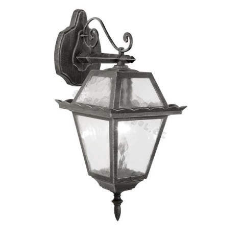 EGLO 89349 - ABANO kültéri fali lámpa 1xE27/100W fekete/patinás ezüst