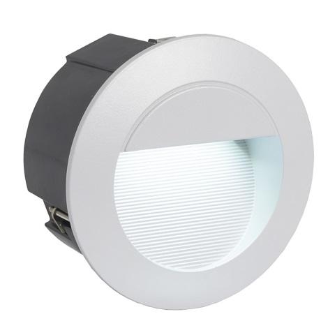 EGLO 89543 - LED ZIMBA LED-es kültéri lámpa  1xLED/1,05W ezüst
