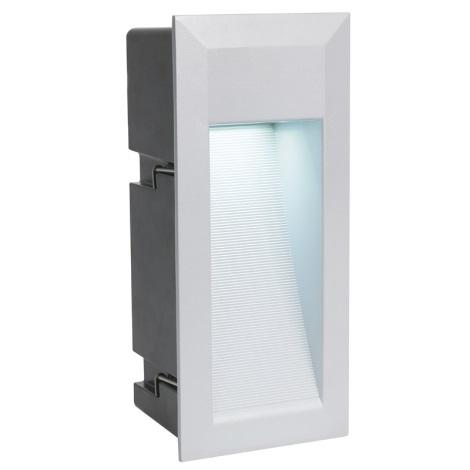 EGLO 89546 - LED ZIMBA LED-es kültéri lámpa 1xLED/1,35W ezüst
