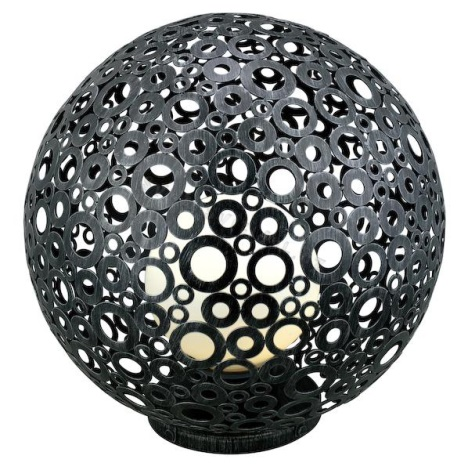 EGLO 89565 - FERROTERRA kültéri lámpa 1xE27/100W patinás ezüst-fekete