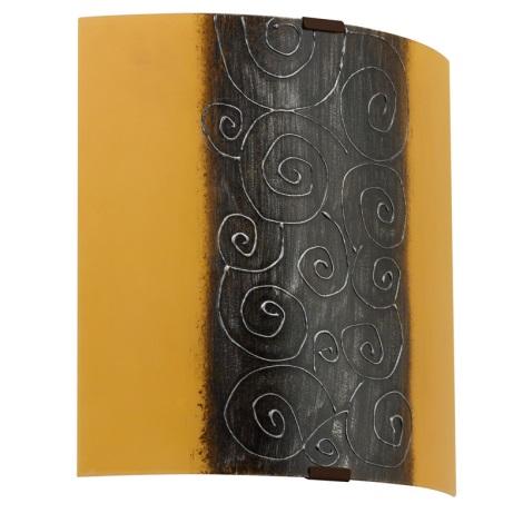 EGLO 89684 - LARA fali lámpa  1xE27/60W fehér/barna/narancs