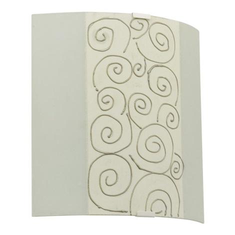 EGLO 89686 - LARA fali lámpa 1xE27/60W fehér/bézs/arany
