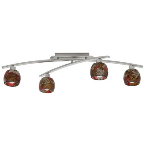 EGLO 89748 - STRIKE mennyezeti lámpa 4xE14/40W piros/narancs