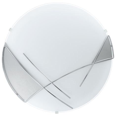 EGLO 89758 - RAYA fali/mennyezeti lámpa 1xE27/60W ezüst/fehér