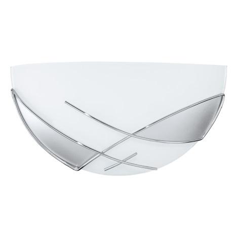 EGLO 89759 - RAYA fali lámpa 1xE27/60W ezüst/fehér