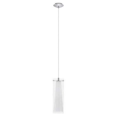 EGLO 89832 - PINTO függeszték 1xE27/60W fehér opálüveg