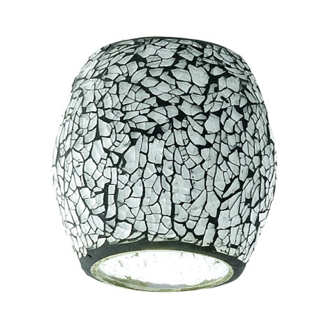 Eglo 90265 - Lámpabúra MY CHOICE fekete-fehér mozaik E14 átm.9 cm