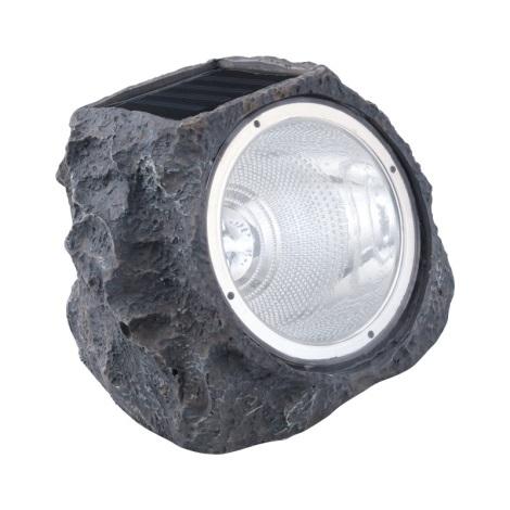 EGLO 90494 - Szolar lámpa 4xLED/0,06W szürke kő