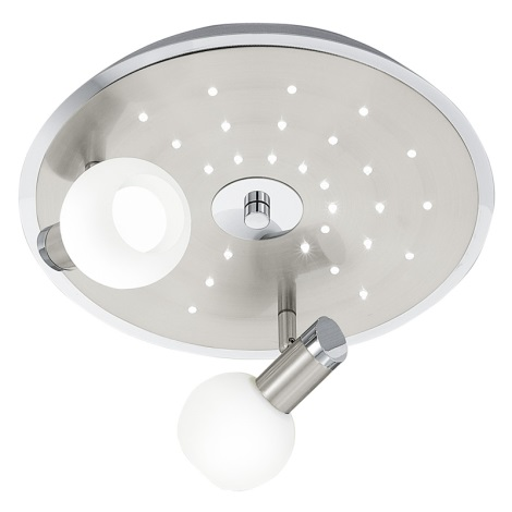 EGLO 90604 - COLEGNO LED-es spotlámpa 2xE14/9W+32xLED/0,06W