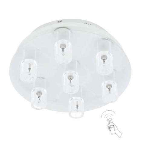 EGLO 91493 - OLMEDO LED-es mennyezeti lámpa 7xG4/20W+7xLED/0,5W
