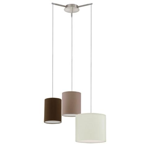 Eglo 92755 - Mennyezeti függesztékes lámpa TOMBOLO 3xE27/60W/230V
