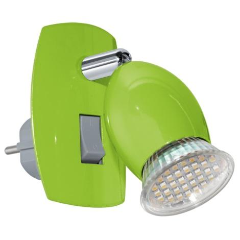 Eglo 92923 - LED konnektoros lámpa BRIVI 1 1xGU10-LED/3W/230V